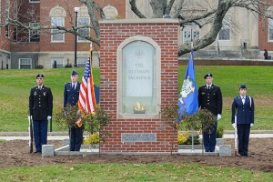 Veterans Day Ceremony at the Ultimate Sacrifice Memorial at UConn