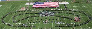 Colossal Colors Flag at Military Appreciation Football Game