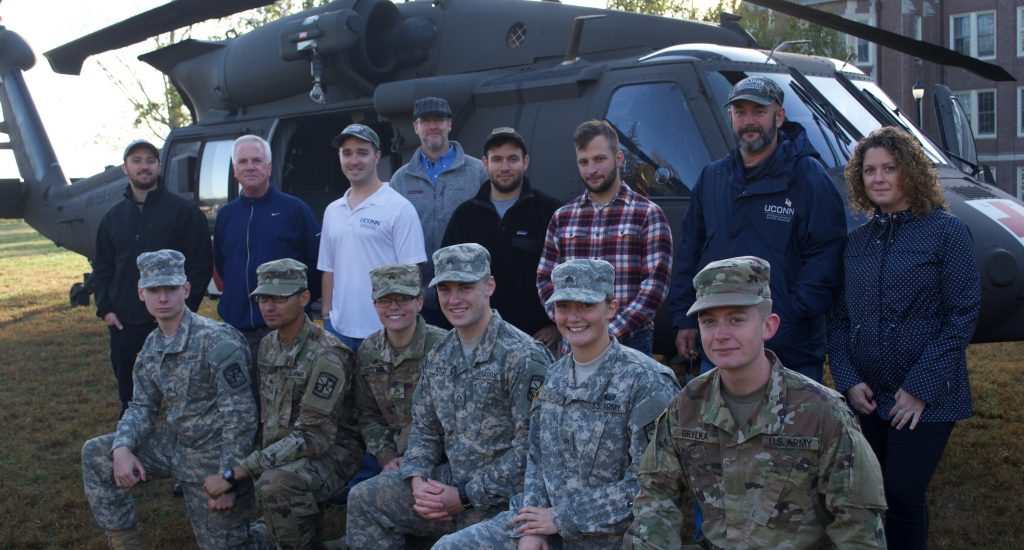 Cadets from the UConn ROTC programs and Staff from UConn's Veterans Affairs & Military Programs on October 4th, 2017