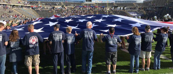 On the field of Pratt & Whitney Stadium - Colossal Colors Sept. 29, 2018