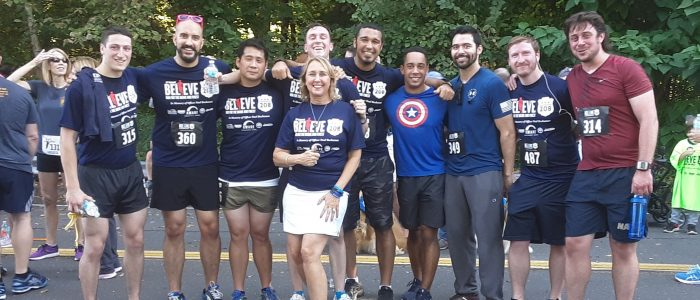 Members of the UConn Veterans Community after the 5K Run in Memory of East Hartford Police Officer, Paul Buchanan.