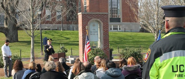 Veterans Day Ceremony at Storrs on November 11, 2019